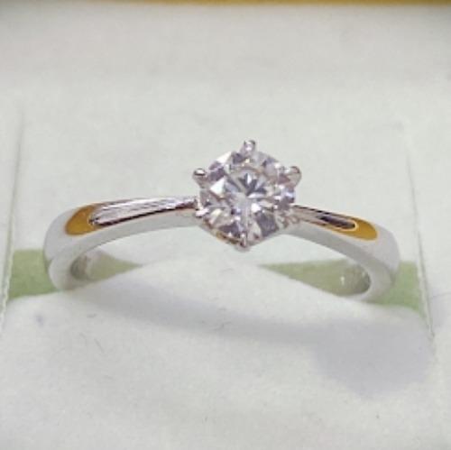 圓形鑽石戒指(銀),純銀時尚又避邪